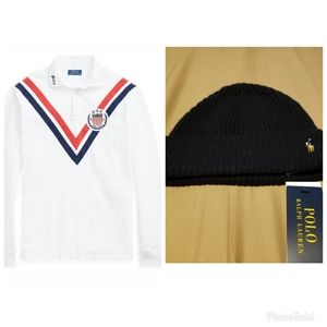 Ralph Lauren Polo Rugby with skull cap.